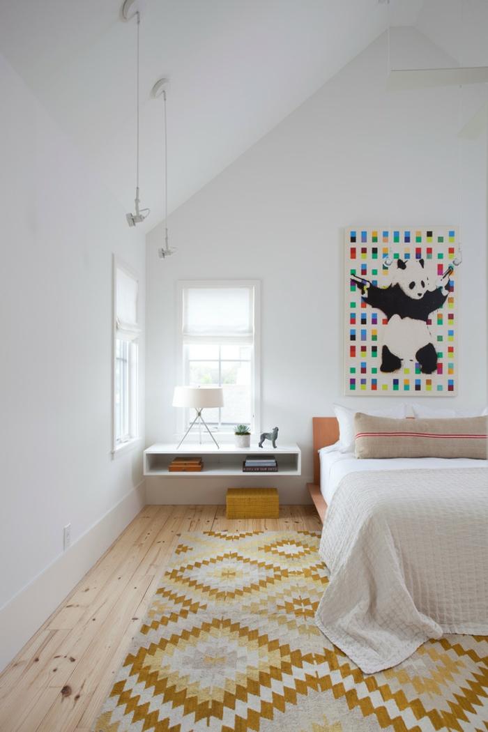 table-de-nuit-suspendue-jolie-chambre-à-coucher-un-chevet-suspendu-avec-rangement
