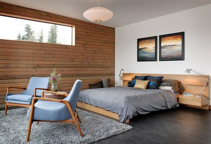 table-de-nuit-suspendue-mur-en-bois-et-tapis-gris-moelleux