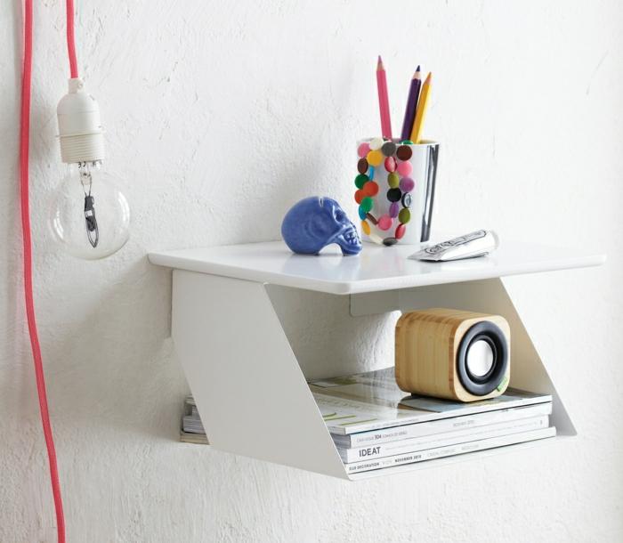 table-de-nuit-suspendue-tablette-murale-blanche-super-décorative