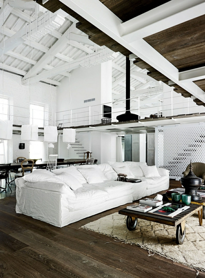 table-de-salon-en-palette-sofa-blanc-loft-magnifique