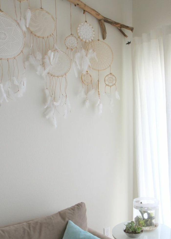 table-en-bois-flotté-peinture-sur-bois-flotté-lampe-décoration-bois-flotté