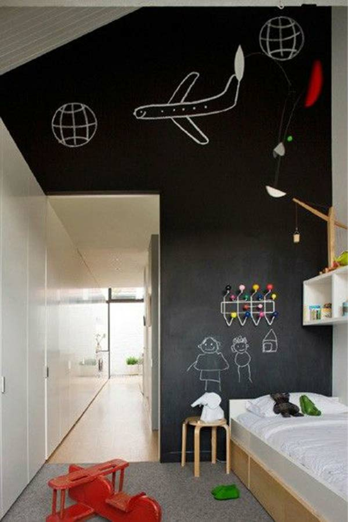 68 id es cr atives avec l 39 ardoise murale. Black Bedroom Furniture Sets. Home Design Ideas