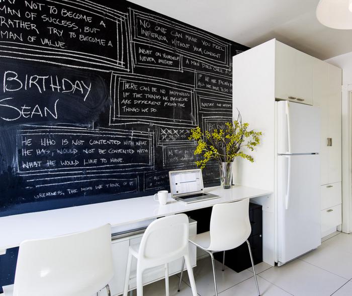 tableau-mural-ardoise-magnétique-peinture-tableau-craie-décoration-cuisine-frigo