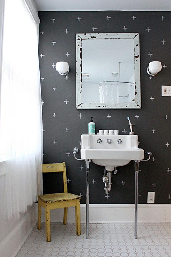 tableau-mural-ardoise-magnétique-peinture-tableau-craie-décoration-salle-de-bain