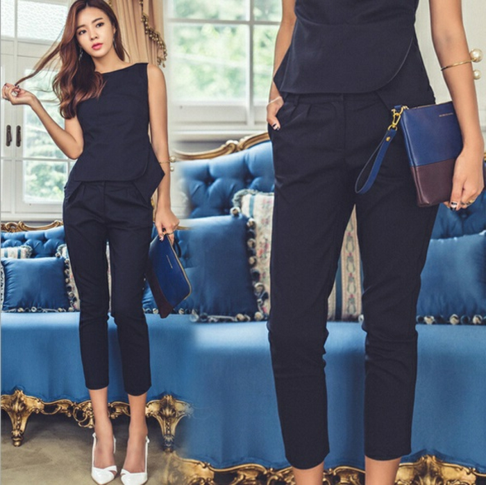 Tendance chic pour vous le tailleur pantalon femme - Vetement de bureau pour femme ...