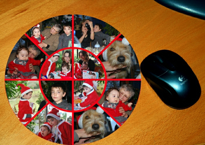 N vous pr sent le tapis de souris personnalis en photos - Tapis de souris rond personnalise ...