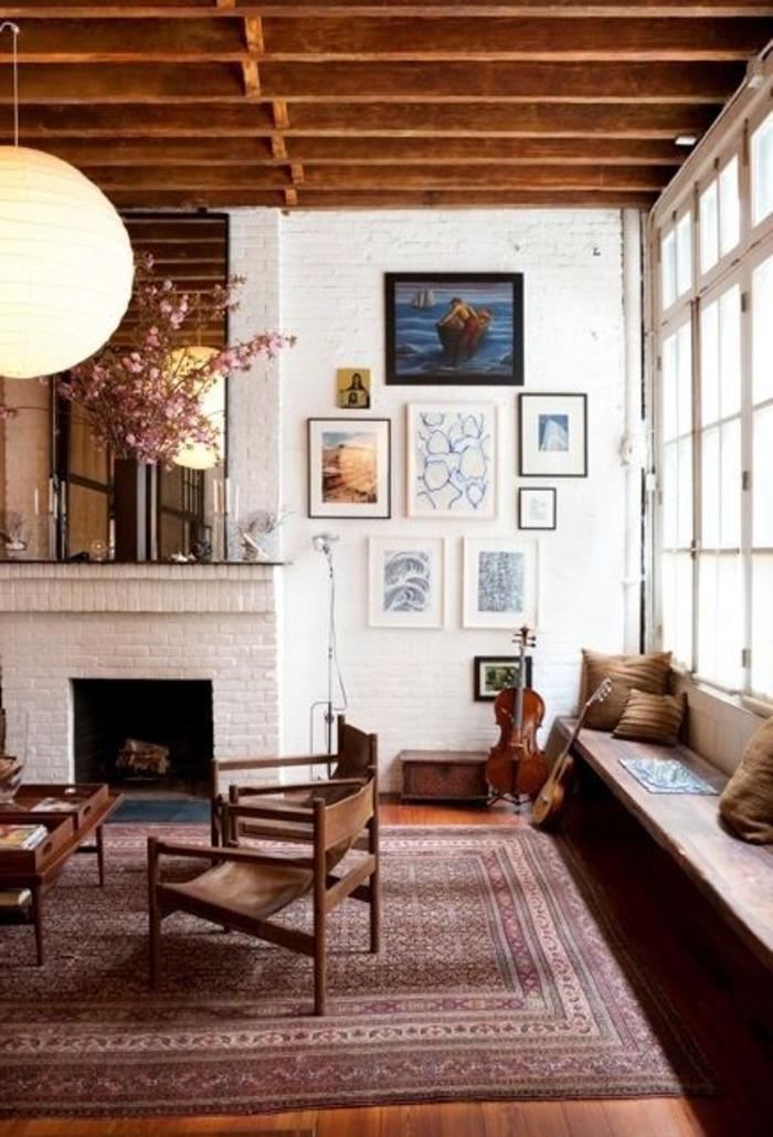 tapis-st-maclou-pour-le-salon-avec-cheminée-d-intérieur-moderne-avec-cheminéе-d-intérieur