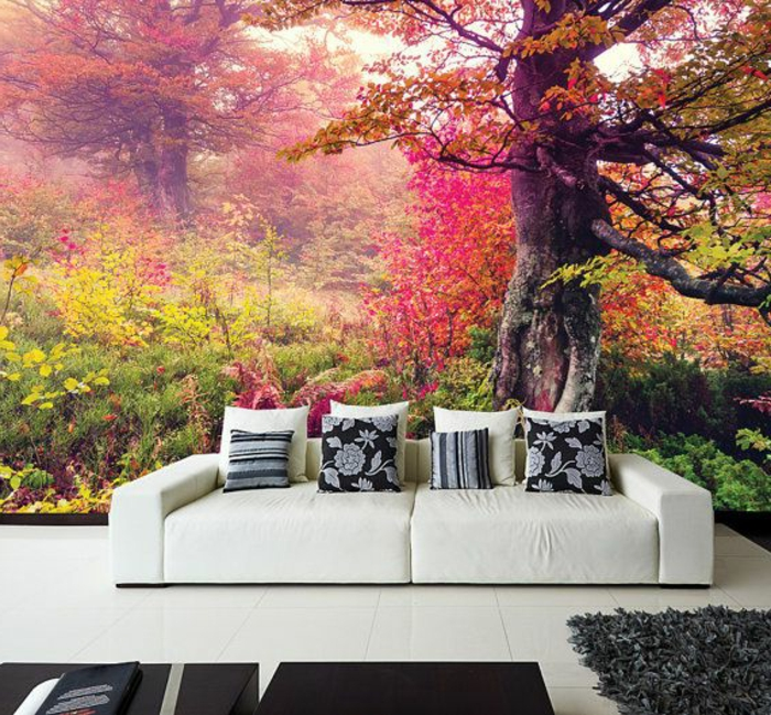 -trompe-l-oeil-dans-le-salon-stickers-muraux-image-foret-arbres ...