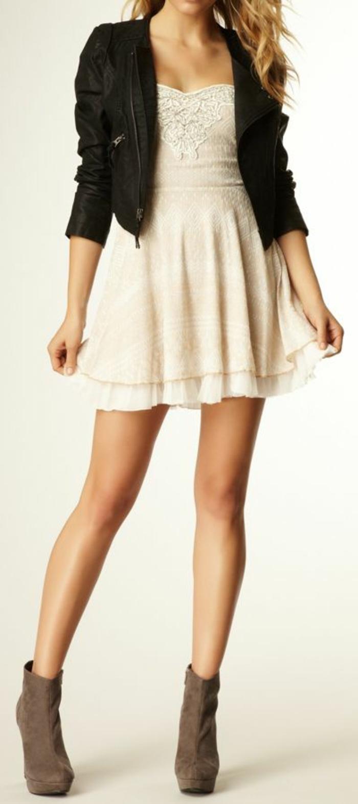 tenue-été-robe-en-dentelle-blanche-robe-blanche-dentelle-courte-la-veste-en-cuir