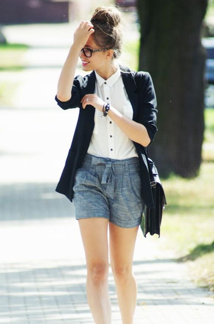 tenues-chics-pour-femmes-rondes-tenue-de-jour-femme-charmante-geek-idée-tenue-de-jour-université-rentrée-scolaire-septembre-2015