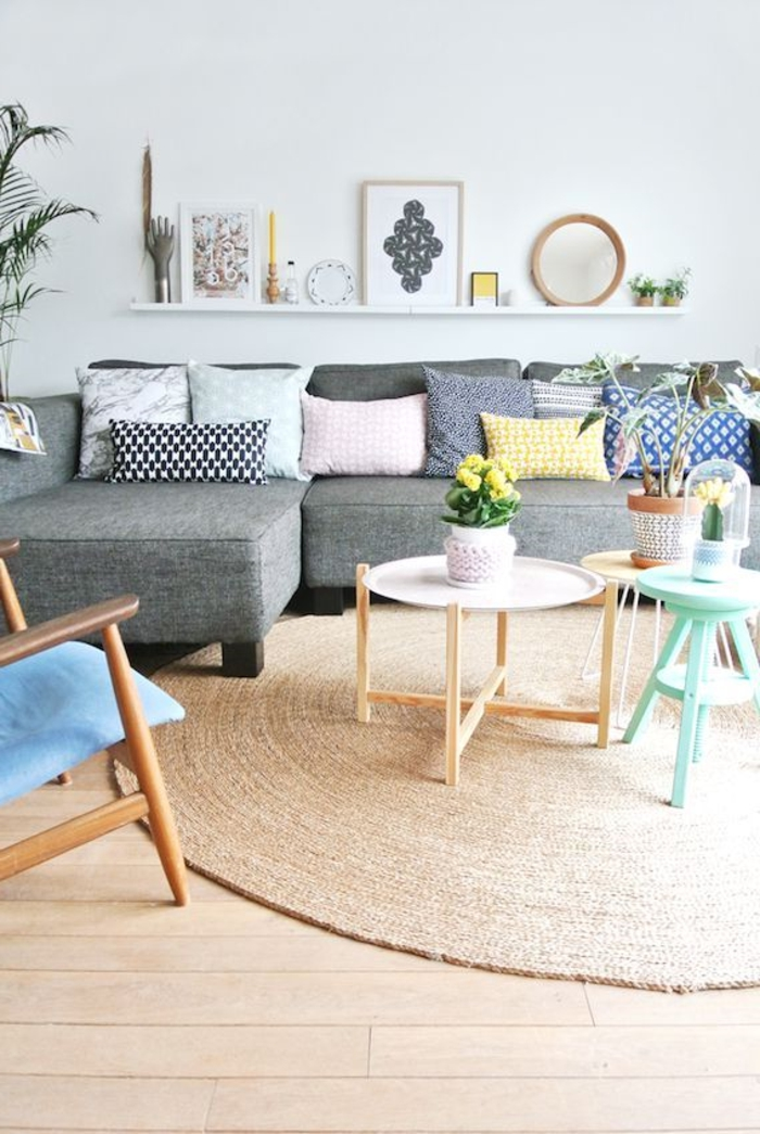 Le tapis de salon dans quelques mots et beaucoup de photos for Image joli salon