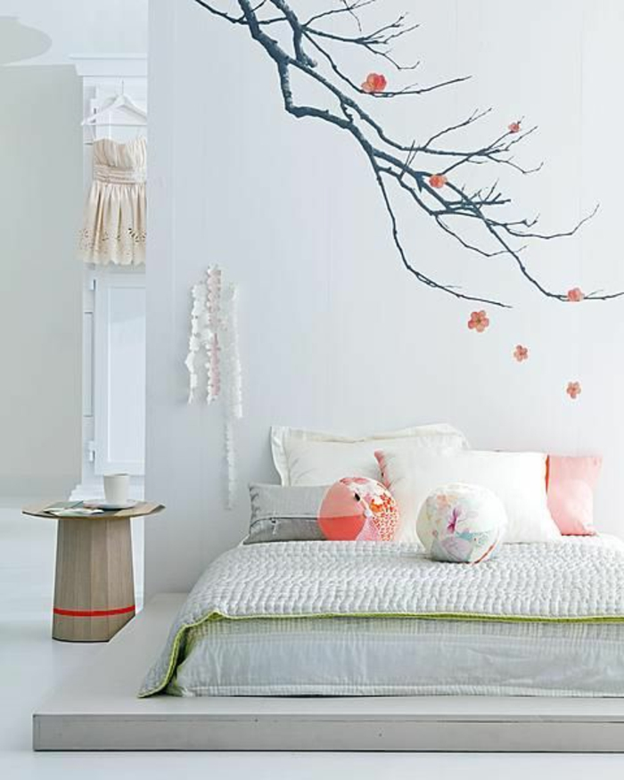 La d coration japonaise et l 39 int rieur japonais en 50 photos for Chambre adulte decoration murale