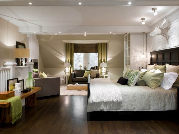 une-jolie-idéе-déco-chambre-parentale-suite-parentale-sol-en-parquette-foncé