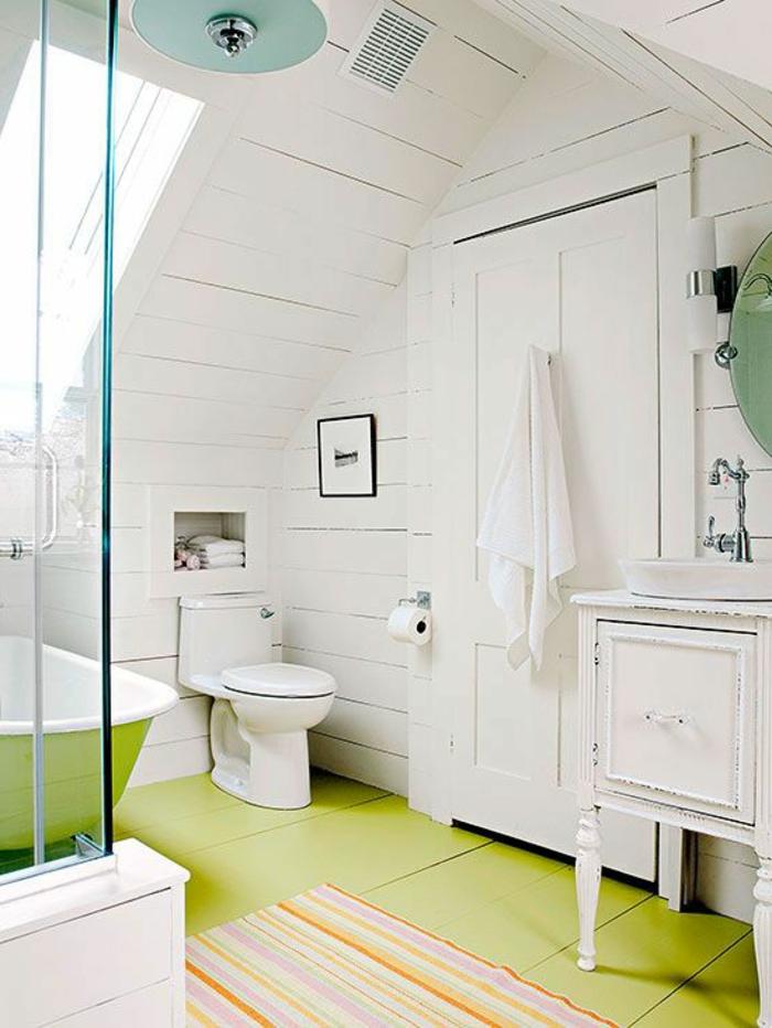51 photos pour trouver le meilleur am nagement de combles - Amenagement petite salle de bain sous pente ...