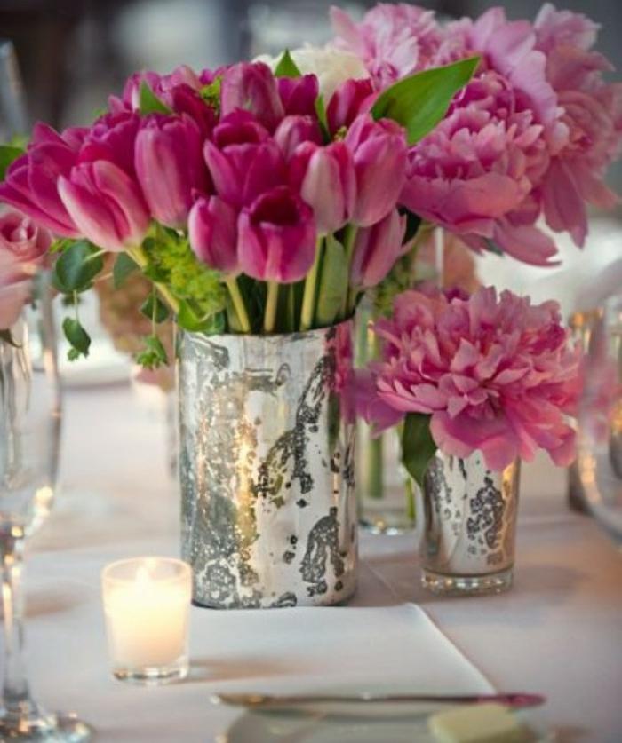 L vase en verre un joli d tail de la d co for Decoration bocal en verre