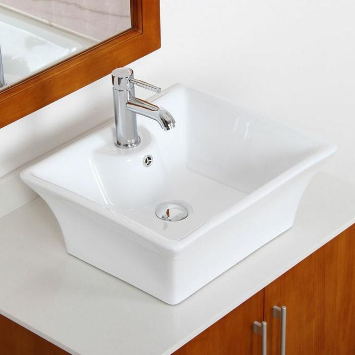 D corer la salle de bains avec un vier c ramique for Evier de salle de bain