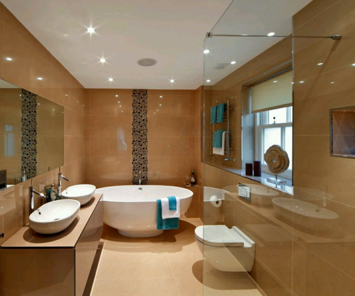 évier-céramique-jolie-salle-de-bains-vasques-blanches-à-poser