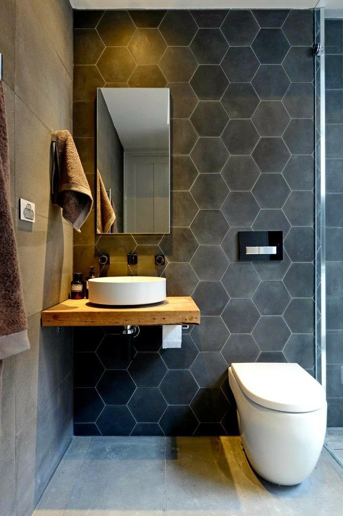 D corer la salle de bains avec un vier c ramique - Sechoir salle de bain mural ...