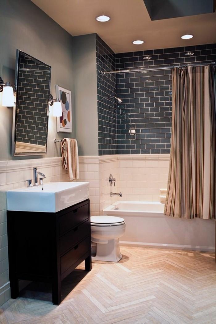 évier-céramique-rectangle-meuble-sous-évier-en-bois-foncé