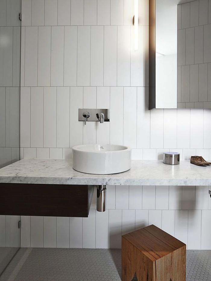 D corer la salle de bains avec un vier c ramique for Ceramique decor salle de bain