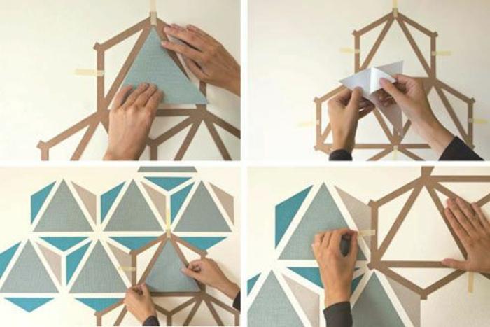 0-papier-peint-géométrique-comment-les-faire-vous-memes-jolie-idee-pour-decorer-les-murs