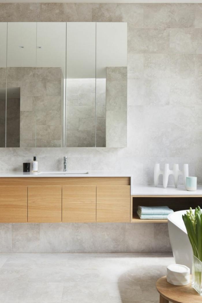 Le meilleur bahut moderne en 53 photos pour vous inspirer for Meuble salle de bain mural pas cher