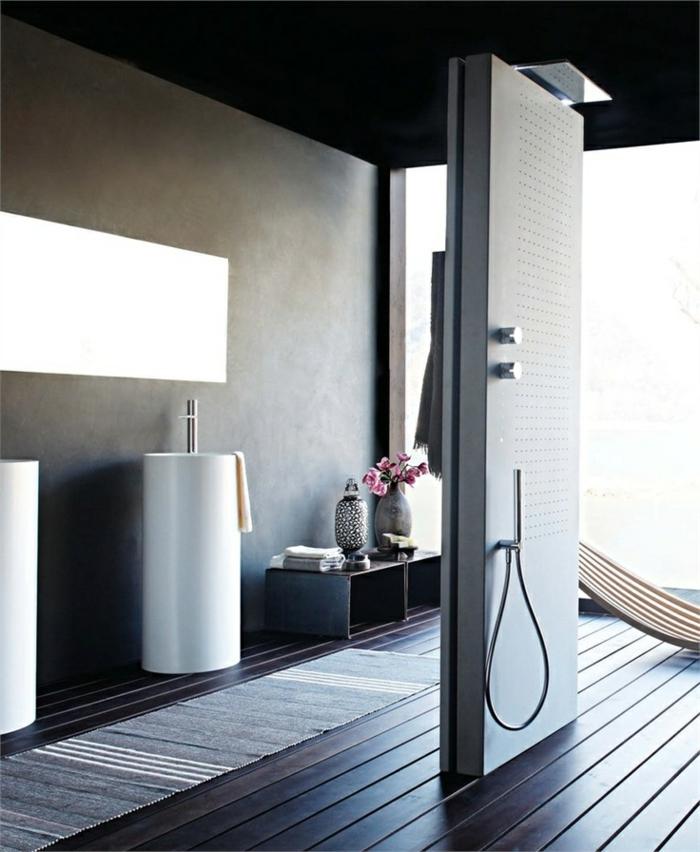 fenetre dans douche cuisine salle de bain avec douche l italienne fonsorbes petit espace de. Black Bedroom Furniture Sets. Home Design Ideas