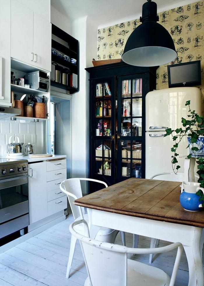 1-couleur-cuisine-feng-shui-avec-interieur-rustique-blanc-noir-grigo-blanc-meubles-blancs