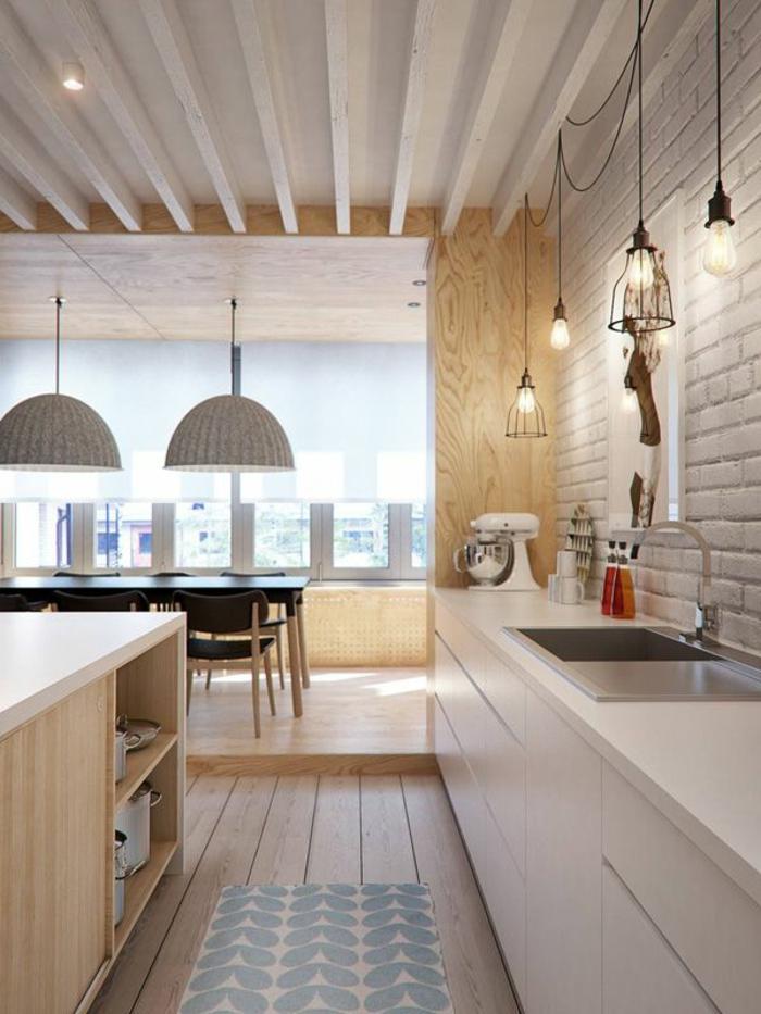 1-cuisine-americaine-amenagement-petite-cuisine-zen-kitchenette-leroy-merlin-avec-meubles-clairs