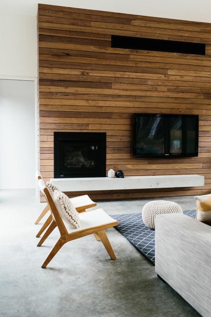 mur beton cire salon. Black Bedroom Furniture Sets. Home Design Ideas