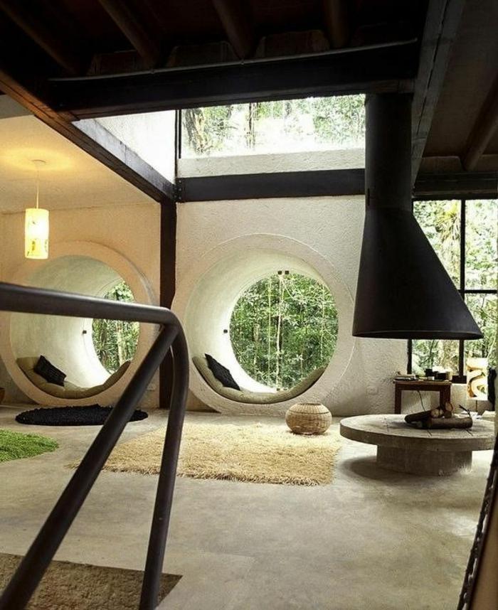 1-joli-salon-insolite-comment-décorer-son-salon-tapis-beige-et-carrelage-beige-pour-le-salon-moderne