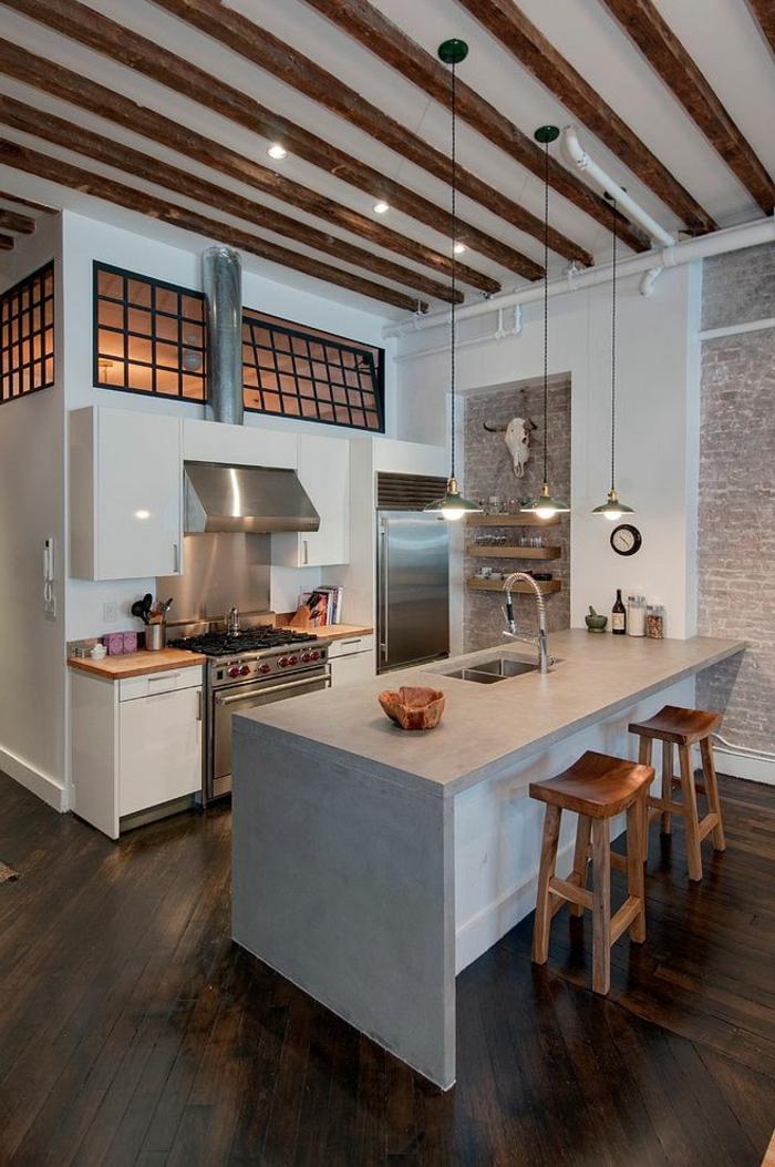 1-jolie-couleur-feng-shui-pour-votre-cuisine-moderne-avec-ilot-de-cuisine-central