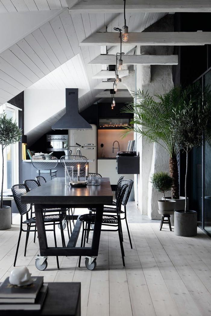 1-jolie-couleur-feng-shui-pour-votre-cuisine-moderne-sous-pente-avec-sol-en-planchers