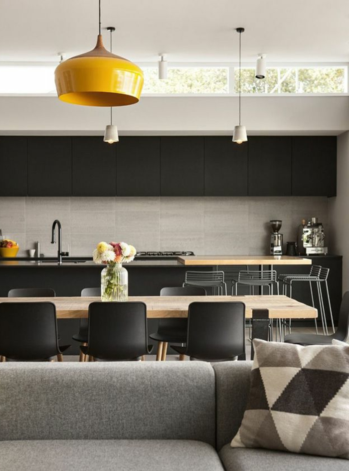 1-kitchenette-leroy-merlin-cuisine-americaine-pour-le-salon-gris-meubles-gris-canapé-moderne