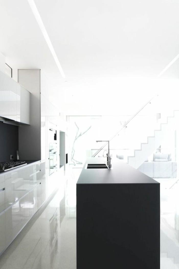 1-la-plus-belle-cuisine-laquée-blanche-pour-la-maison-contemporaine-carrelage-blanc