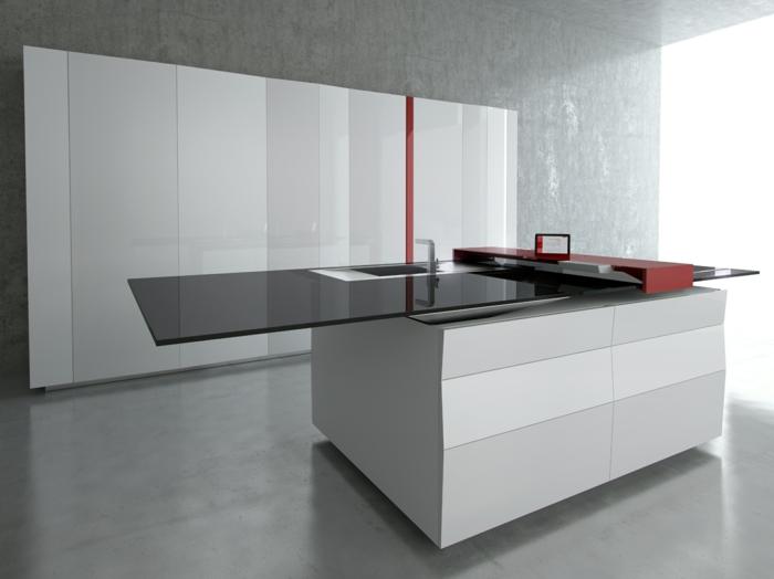 1-la-plus-belle-cuisine-laquée-blanche-pour-la-maison-contemporaine-murs-gris-cuisine