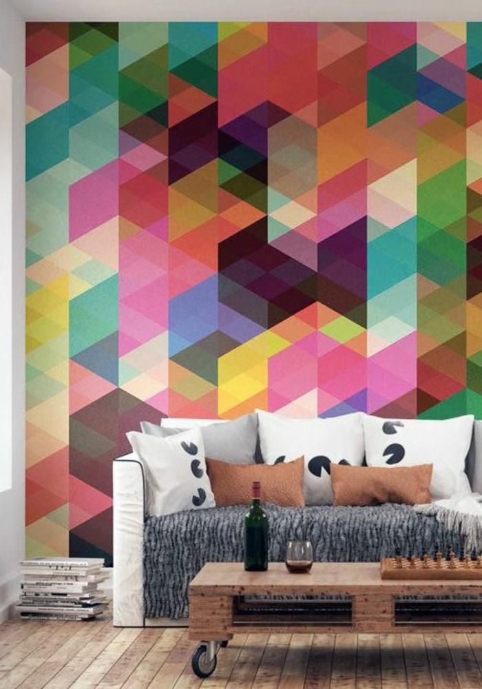 1-la-plus-belle-tapisserie-leroy-merlin-geometrique-colorée-en-trangles-pour-le-salon-art