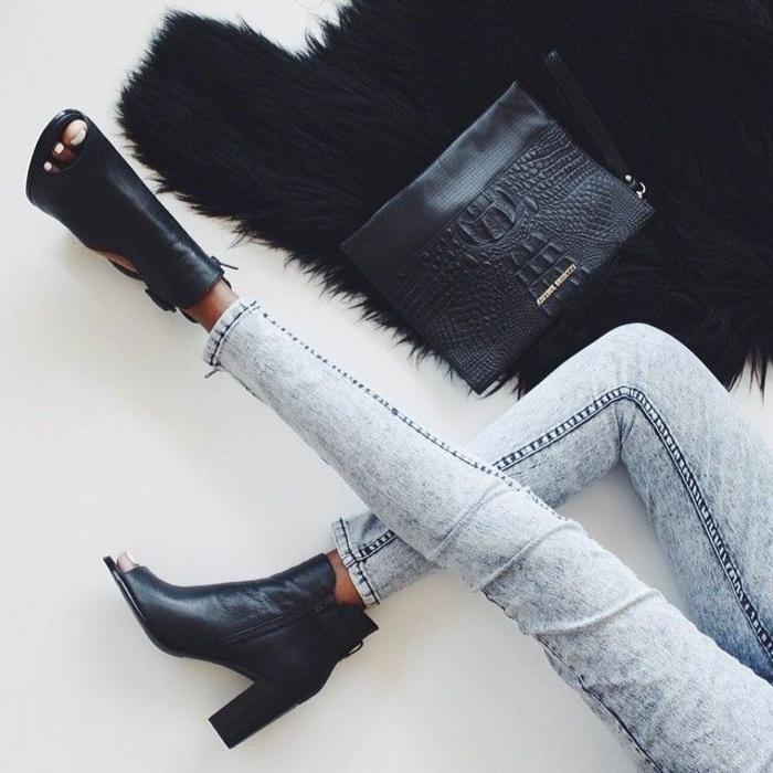 1-les-bottes-noires-en-cuir-avec-denim-bleu-les-tendances-dans-la-mode-pour-2016