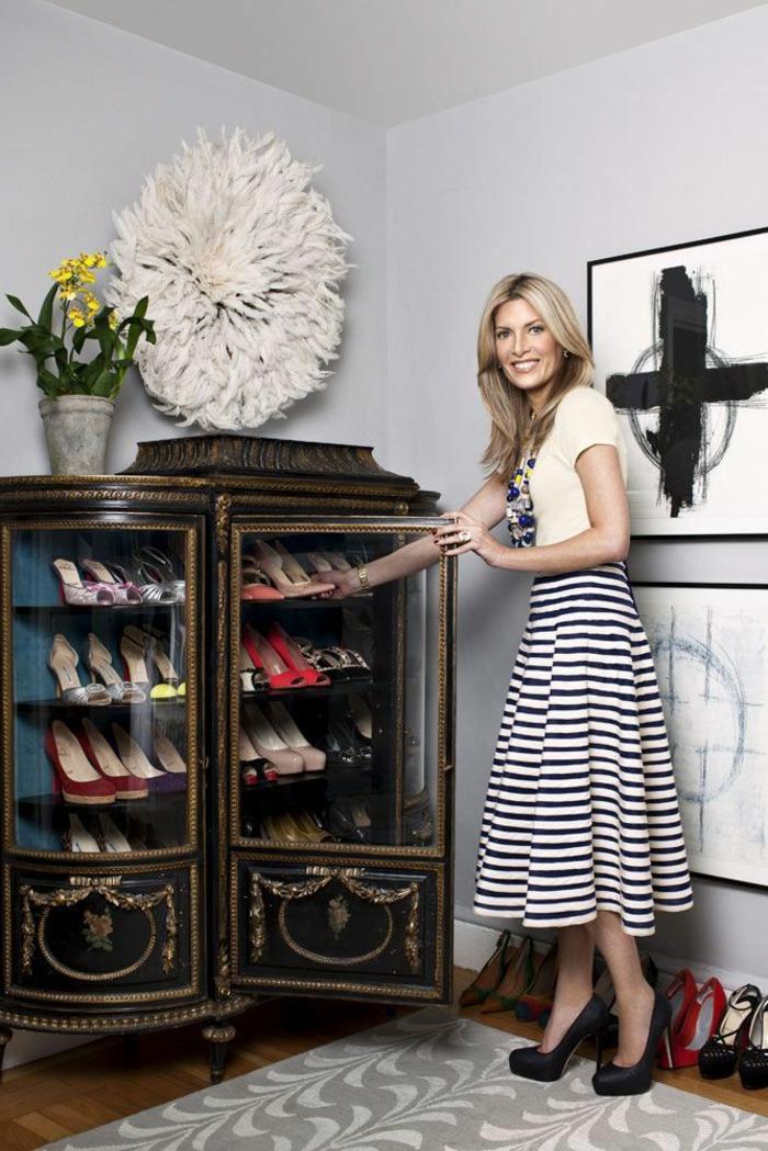 meuble chaussure joli. Black Bedroom Furniture Sets. Home Design Ideas