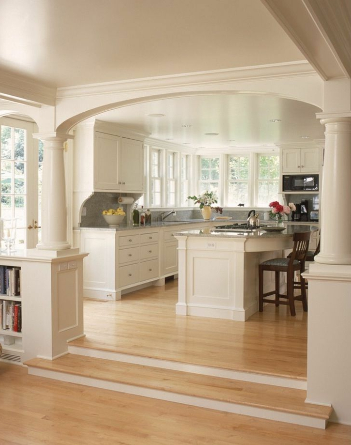 D couvrir la beaut de la petite cuisine ouverte for Cuisine avec ilot central pour petit espace