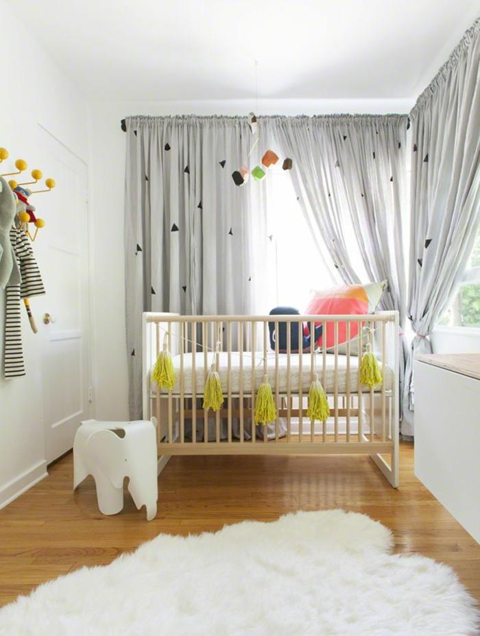 Id es en 50 photos pour choisir les rideaux enfants for Rideaux chambre d enfant