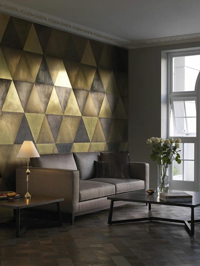 1-tapisserie-leroy-merlin-geometrique-dans-le-salon-moderne-murs-avec-formes-en-triangles