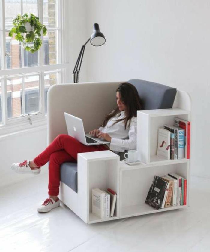 Comment bien choisir un meuble gain de place en 50 photos for Tapis jonc de mer avec canape convertible petit espace
