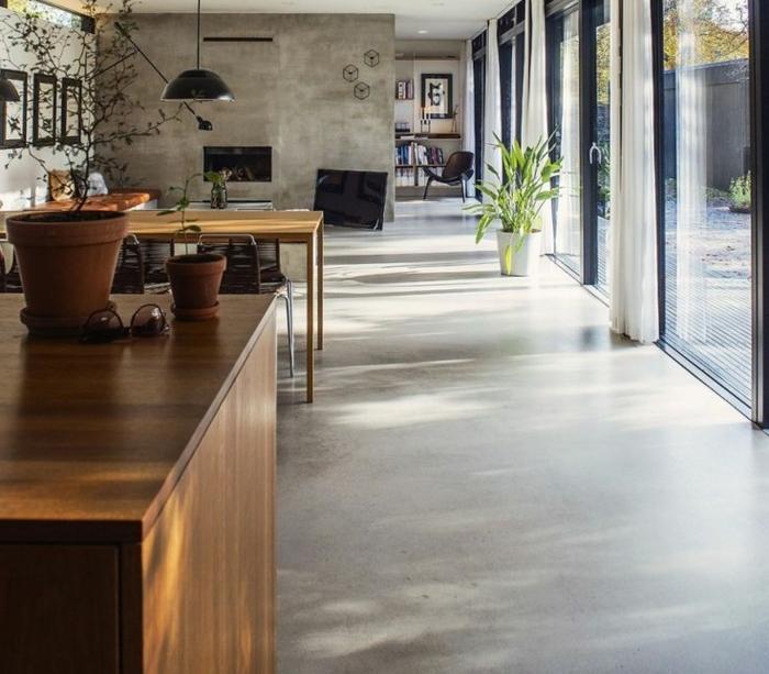 D couvrir le sol en b ton cir dans beaucoup de photos - Sol interieur beton brut ...