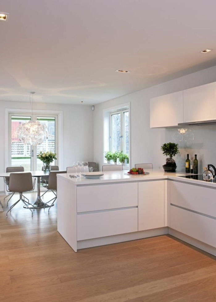 53 variantes pour les cuisines blanches - Deco cuisine moderne blanc ...
