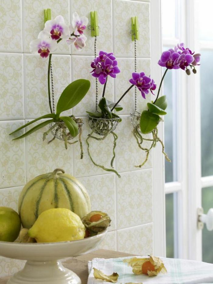 Jolie Decoration D Orchidee Artificielle En Pot