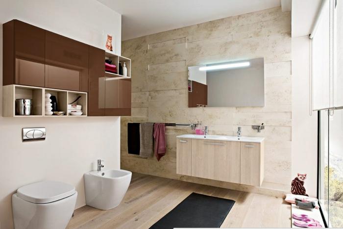 On vous pr sente le tapis de salle de bain en 45 images - Tapis salle de bain bois ...