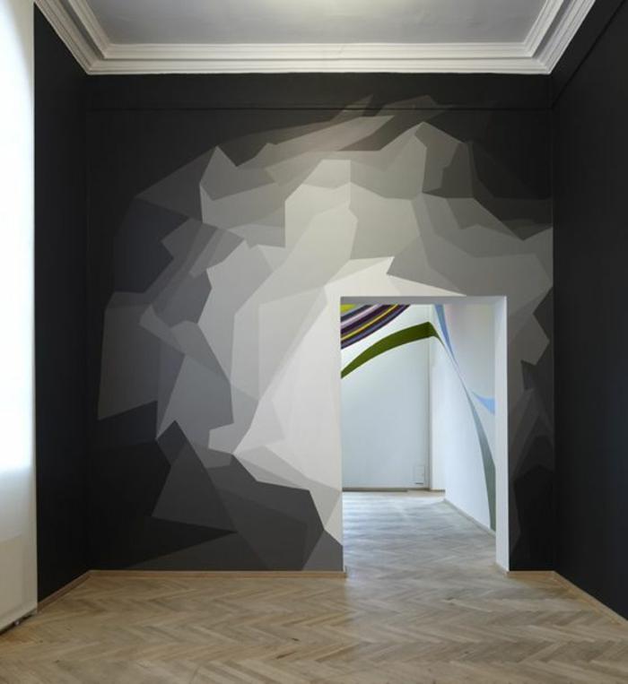 11-relooker-sa-maison-relooker-les-murs-chez-vous-un-murs-peintee-de-blanc-et-noir-jolie-decoration