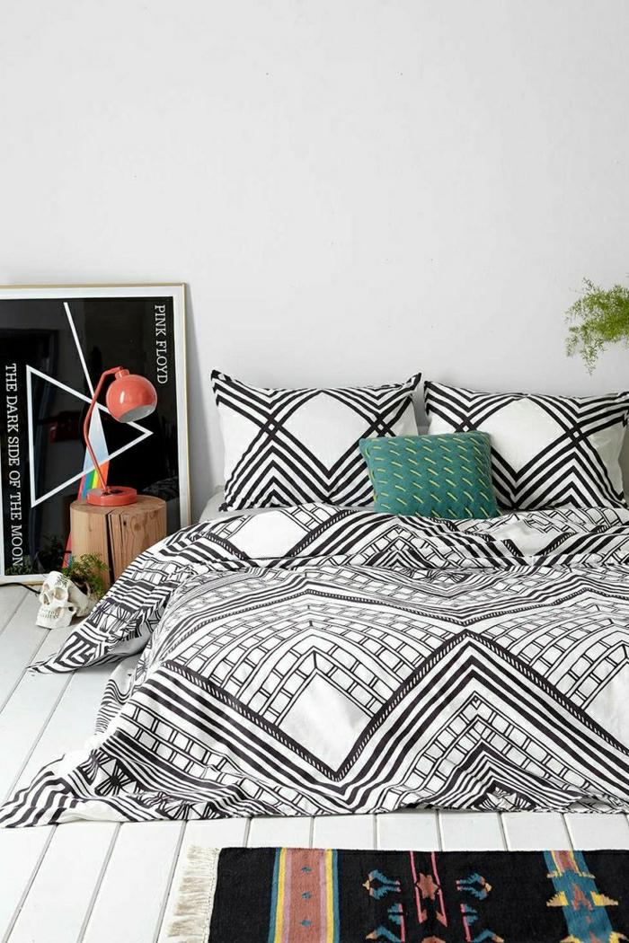 12-housse-de-couette-la-redoute-pour-votre-chambre-à-coucher-moderne-joli-linge-de-lit-blanc-noir