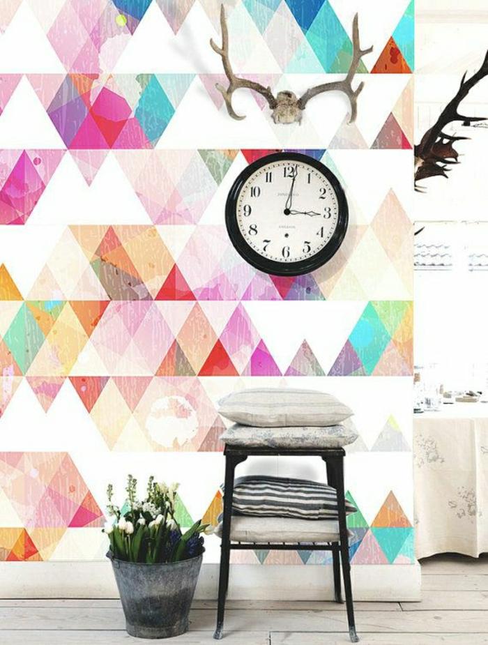 12-jolie-papier-peint-géométrique-papier-peint-leroy-merlin-avec-triangles-colorés